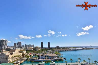 panoramic view of honolulu from the top of Aloha Tower