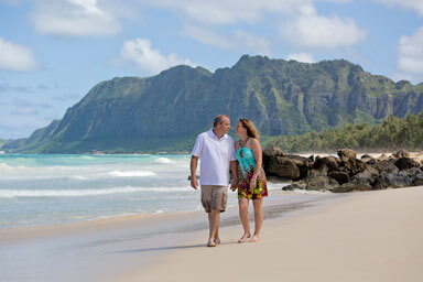 Oahu Beach Couples Portrait Photography