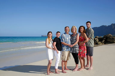 Bellows Beach Family Portrait Photography