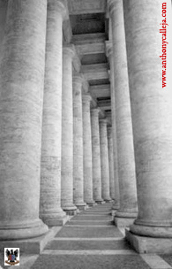 Bernini Masterpiece Colonnade of Piazza San Pietro Rome Italy 1999