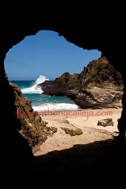 Cave at Eternity Beach Oahu Hawaii
