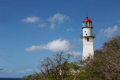 Diamond Head Lighthouse, Diamond Head, Honolulu, Oahu, Hawaii