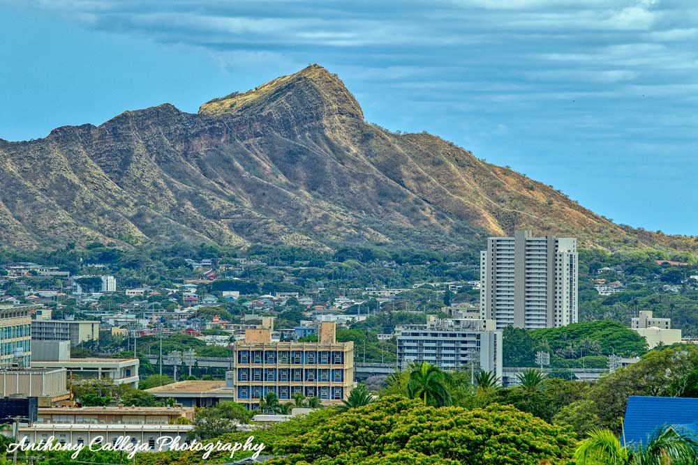 Photo of the Diamond Head photographed from Manoa Valley
