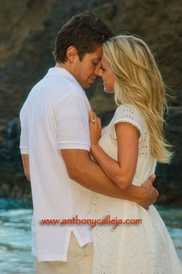 Engagement Couples Portrait Photographer Eternity Beach Oahu Hawaii