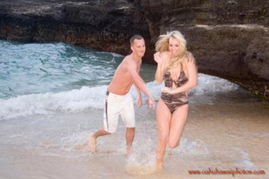 Honeymoon Couples Portrait Photographers Eternity Beach Oahu Hawaii