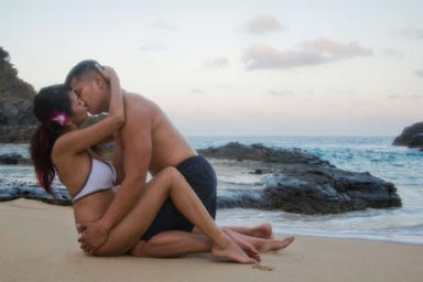 Oahu Couples Portrait Photographer Eternity Beach Oahu Hawaii