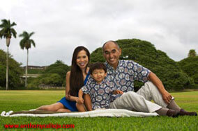 Oahu Family Portrait Moanalua Gardens Honolulu Hawaii