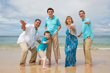 Waikiki Beach Family Vacation Portraits
