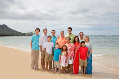 Waikiki Beach Family Portrait Photographer