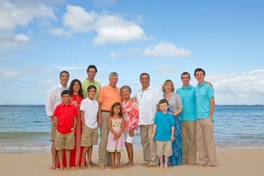 Waikiki Beach Family Portraits