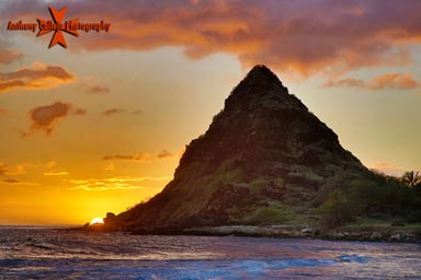 Hawaii Art Photography - Mauna Lahilahi photographed at sunset