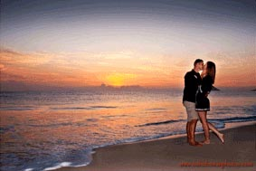 Anniversary Photo photographed at Sunrise at Waimanalo Beach Oahu Hawaii