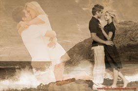 Montage Art Couples Portrait at Makapuu Beach
