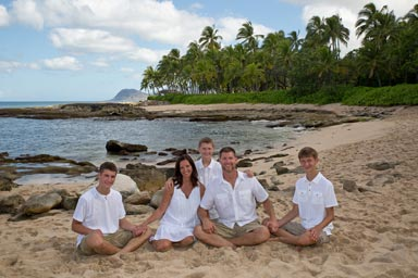 Koolina Portrait Photographers at secret beach Oahu Hawaii