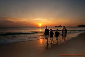 Sunrise family photo session photo Waimanalo Beach