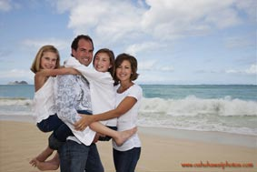 Oahu Family Portrait Photographers Waimanalo Beach Oahu Hawaii