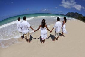 Family Portrait Waimanalo Beach Oahu Hawaii
