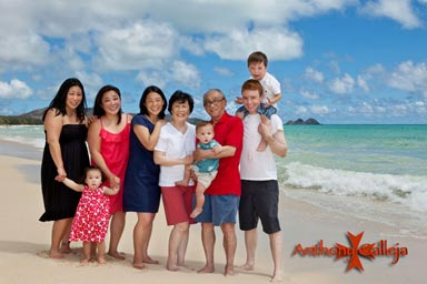 Oahu Group Photos - Photographed on locations at Waimanalo Beach, Oahu Island