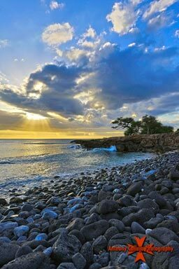 Hawaiian Sunset photography Manners Beach, Waianae