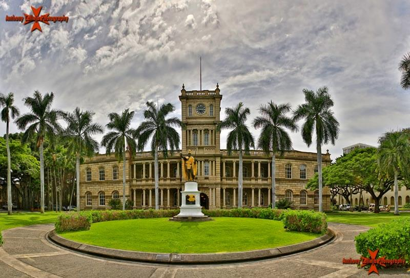 King Kamehameha statue in front of the Hawaii Supreme Court Building