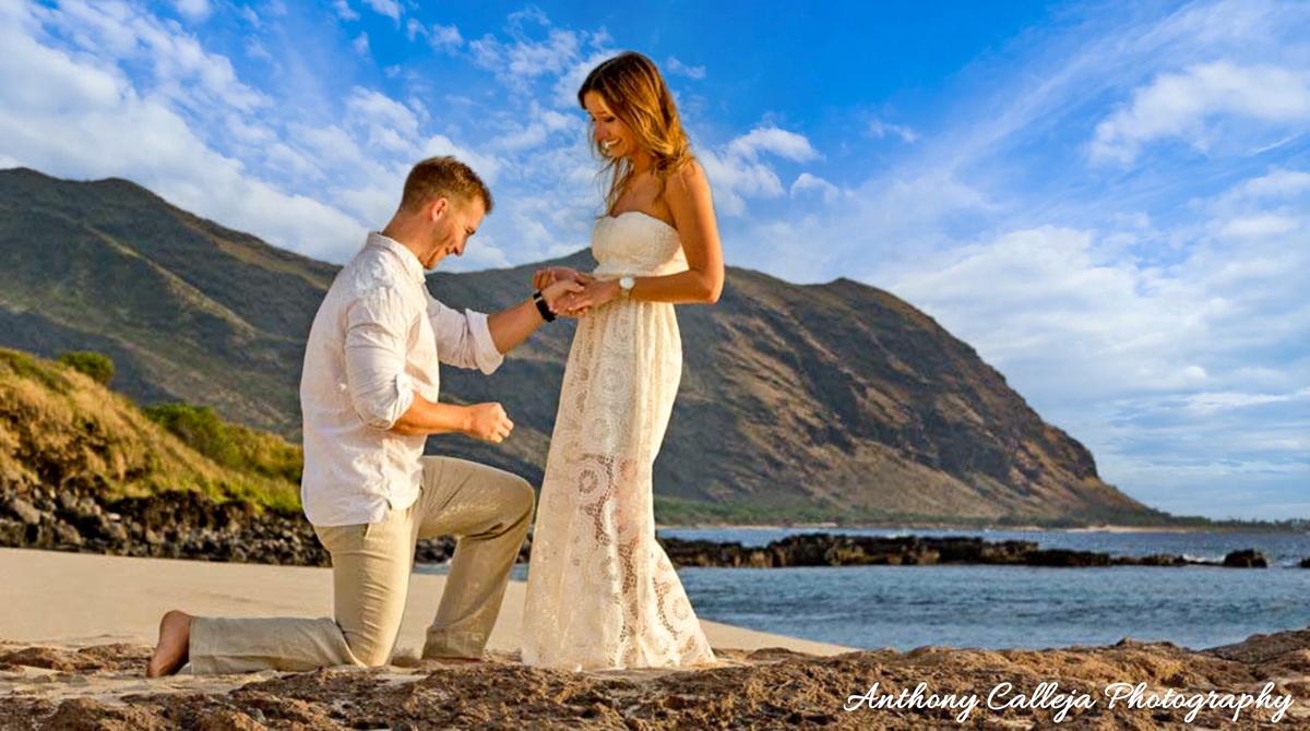 Oahu Surprise Engagement Proposal Photography
