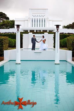 Laie LDS Temple Wedding Photography