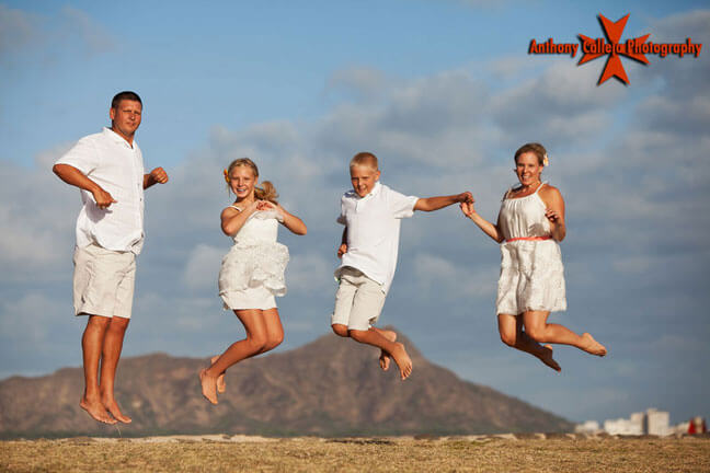Magic Island Family Jump Shot Honolulu, Hawaii