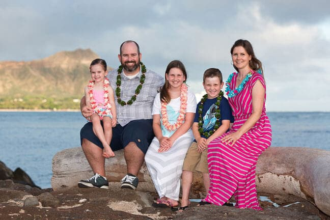 Magic Island Family Portrait Honolulu, Hawaii