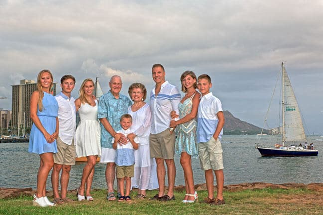 Magic Island, Family Portrait Photography Honolulu, Hawaii