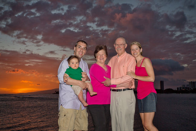 Magic Island, Family Portrait at Sunset