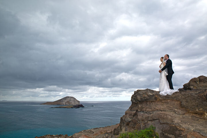 Makapuu Lookout Wedding Portrait Photography Oahu Hawai