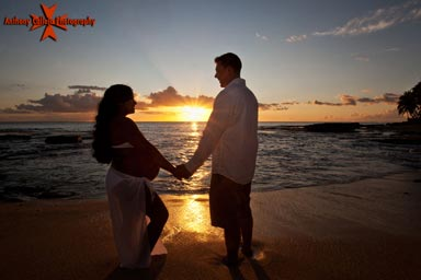 honolulu Sunset Maternity Photography