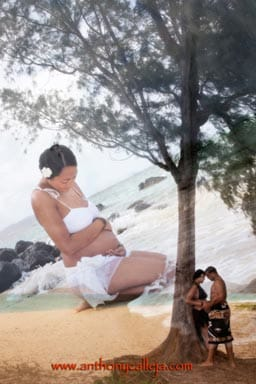 Oahu Maternity Photo Montage Art Photography