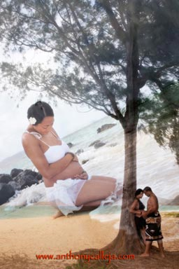 Maternity Portrait Photography Waimanalo Beach Oahu Hawaii