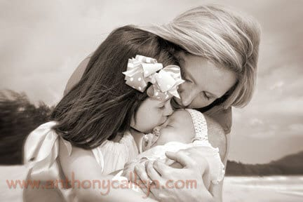 Family Portrait Photography - Mother with Children