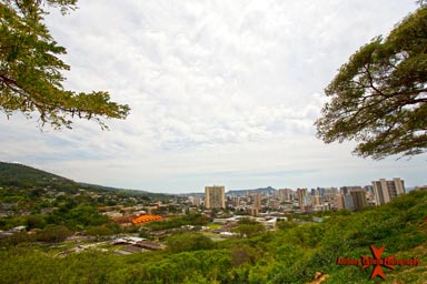spectacular panoramic view of Honolulu