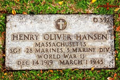 Henry Oliver Hank Hansen (December 14, 1919 – March 1, 1945)