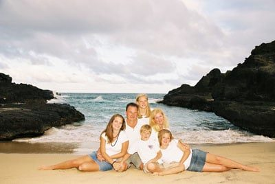 Oahu Beach Family Portrait