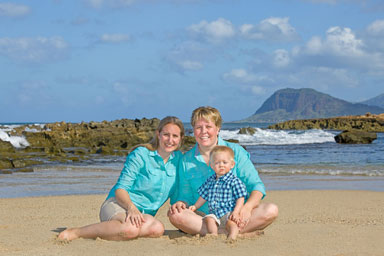 Oahu Beach Family Vacation Portrait Photographer