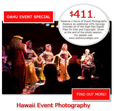 Hawaii Event Photography - Oahu Event Photographer Rates