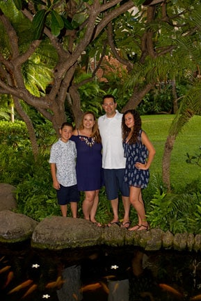 Hilton Hawaiian Village Family Portrait Photography