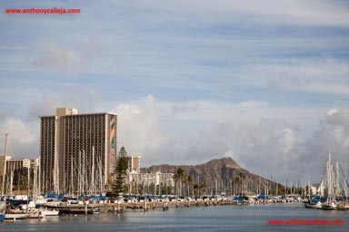 Seascape Photography, Diamond Head photographed from Magic Island , Oahu, Hawaii