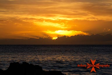 Oahu Seascape Photography, Sunset at Secret Beach, KoOlina Resort, Oahu, Hawaii