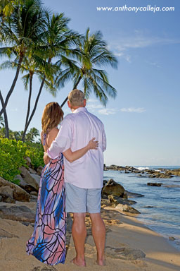 Oahu Beach Honeymoon Vacation Portrait Photographer