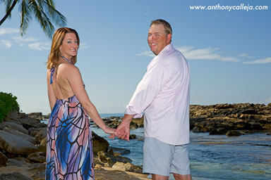 Oahu Beach Honeymoon Vacation Portraits