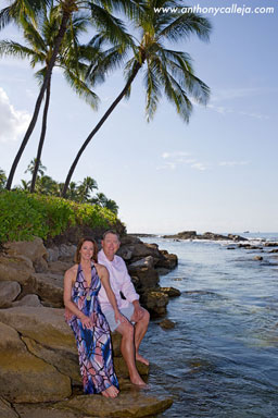 Oahu Honeymoon Vacation Portraits