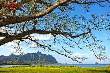 Seascape Photography, Koolau Mountain Range and Mokolii Island ,Waiahole Oahu, Hawaii