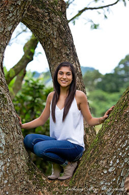 Kaneohe Senior Portrait photographer - Hoomaluhia Botanical Gardens, Hawaii