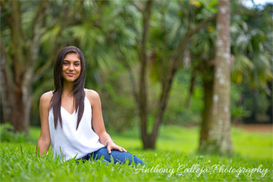 Kaneohe Senior Portrait photography - Hoomaluhia Botanical Gardens, Hawaii