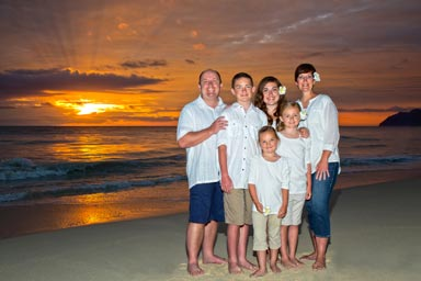 Sunrise Engagement Family Portrait Waimanalo Beach Oahu Hawaii